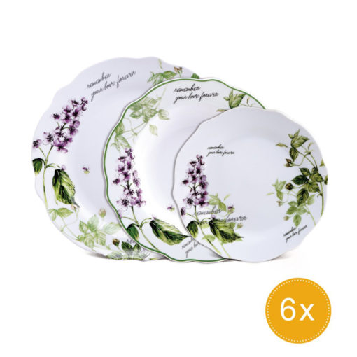 Vajilla 18 Piezas Porcelana BRUNCHFIELD BF-8011