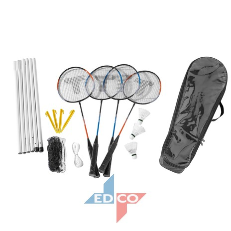 Set de badminton 4 raquetas + red