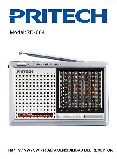 Ràdio vintage gris PRITECH RD-004