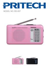 Radio AM/FM negra PRITECH RD-007