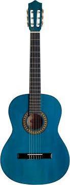 """Guitarra clasica azul 39"""" WINZZ AC851R-BL"""