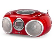 Boombox Radio-CD-MP3-USB Rojo AUDIOSONIC CD-570