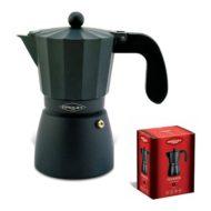 Cafetera de aluminio OROLEY TOUAREG 6 TAZAS color negro