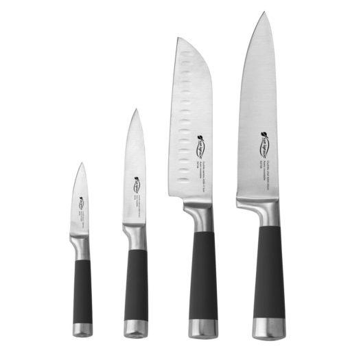 Set 4 Cuchillos cocina Acero Inox. SAN IGNACIO SG-4200