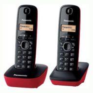 207- Teléfono inalhámbrico duo negro/rojo PANASONIC KX-TG1612RO/SPR